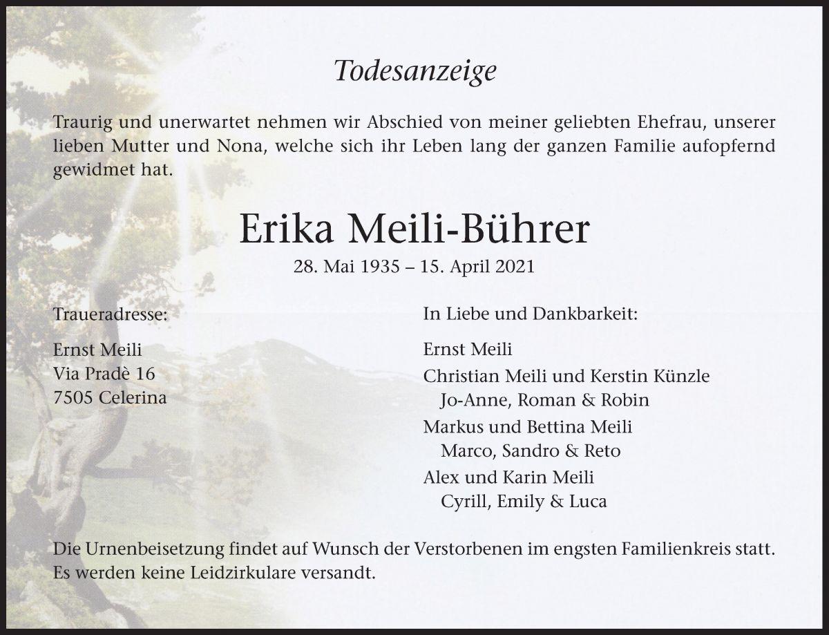 Erika Meili-Bührer