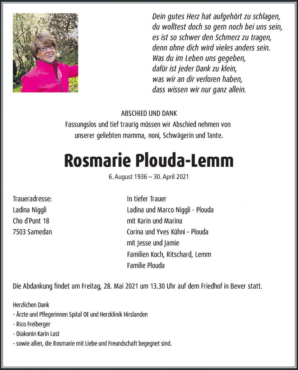Rosmarie Plouda-Lemm